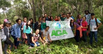 Alunos do Campus Coelho Neto em ação  para comemorar o dia do Turismo Ecológico.