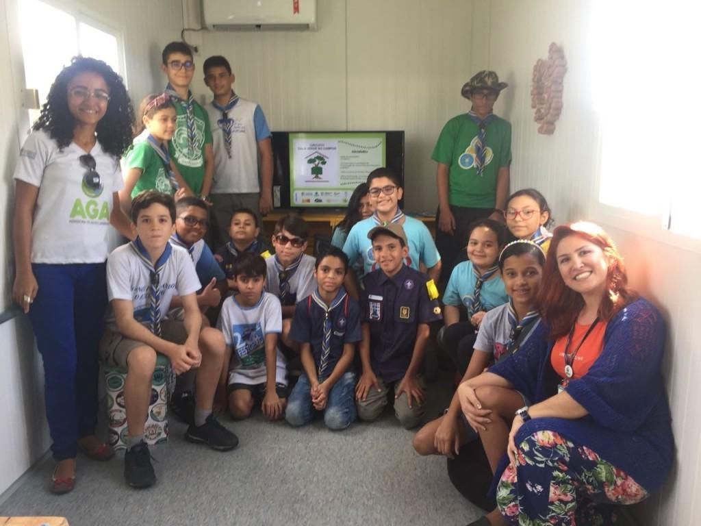 O primeiro grupo participante do Circuito Sala Verde